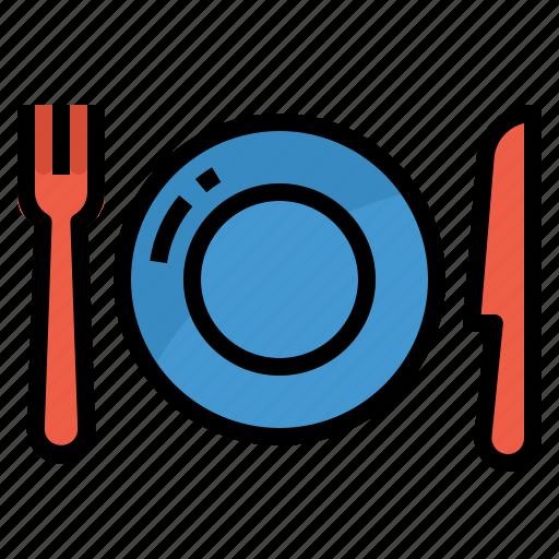 dinner, dish, food, plate, restaurant icon