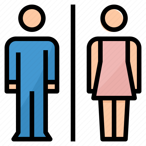 man, restroom, signs, toilet, woman icon