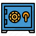 bank, box, safe, security icon