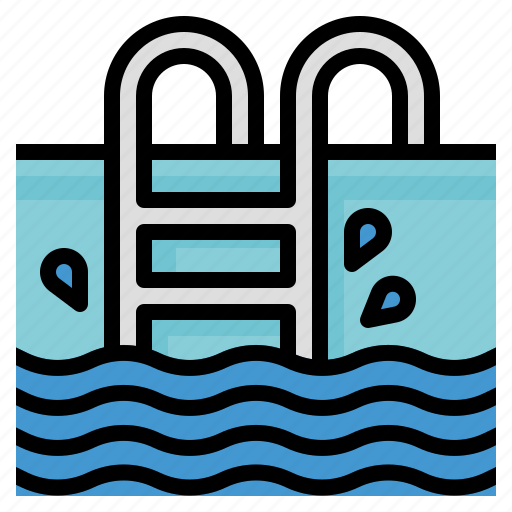 ladder, pool, sports, swim, swimming icon