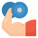 dumbbell, gym, training, weight icon