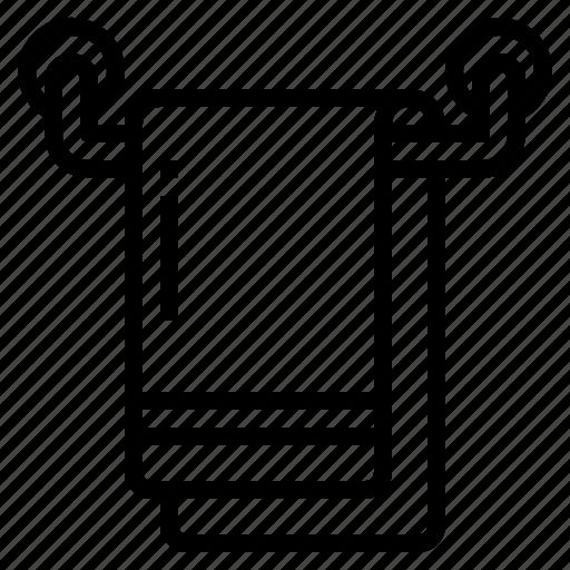bath, hotel, mat, towel icon