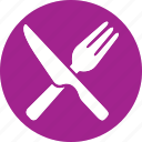 fork, hotel, kitchen, knife, spoon, travel, vacation icon