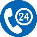 24, 24 hours, accommodation, call, ecommerce icon, hotel, vacation icon