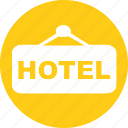 acomodation, hotel, room, service, trip, vacation icon