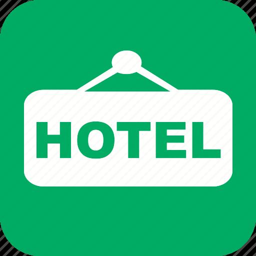 acomodation, hotel, resort, service, travel, vacation icon icon