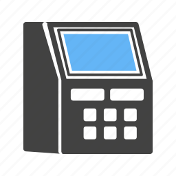 atm, card, cash, fax machine, money, receipt, withdraw icon