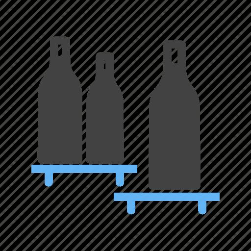 bottle, bottles, milk, sauce, shelf, shelves, shopping icon