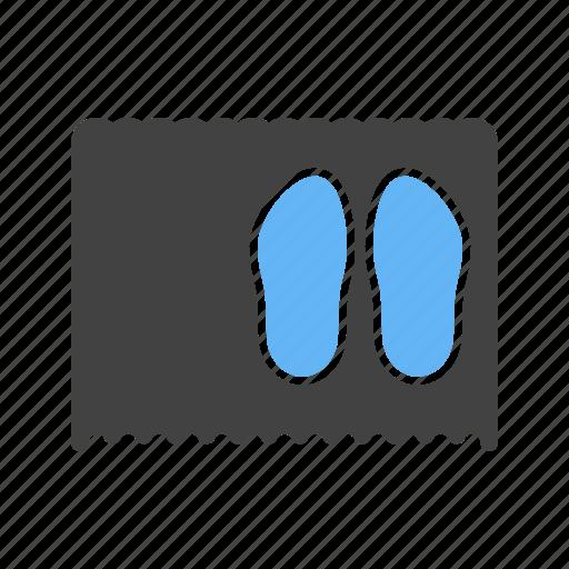 carpet, door, doormat, floor, home, mat, shoe icon