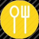 3, dining, eating, flatware, fork, spoons set, tableware, utensil icon