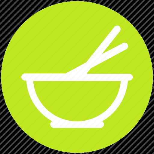 .svg, bowl, chopsticks, food bowl, food preparation, mixer, whisk icon
