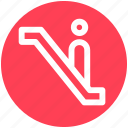 .svg, escalator, level, lift, staircase, stairs, up icon