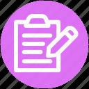 .svg, agenda, checklist, index, pencil, task, to do icon