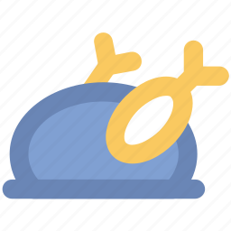 broast chicken, chicken, food, meat, roast, turkey icon