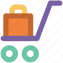 baggage, luggage, luggage bag, luggage trolley, travel bag icon