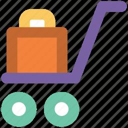 baggage, luggage, luggage bag, luggage trolley, travel bag icon