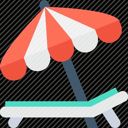 Beach, pool side, sun tanning, sunbathe, tanning icon - Download on Iconfinder