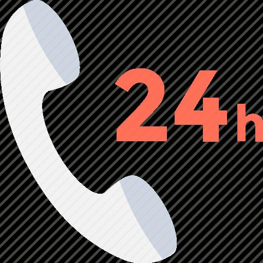 Call center, customer service, helpline, phone service, twenty four hours icon - Download on Iconfinder