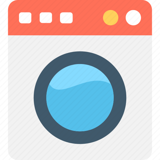Appliance, electronics, laundry, wash clothes, washing machine icon - Download on Iconfinder