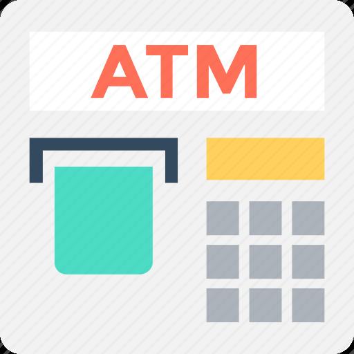 Atm, atm machine, automated teller machine, cash line, cash machine icon - Download on Iconfinder