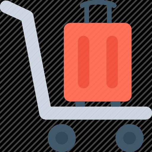 Hotel trolley, luggage, luggage trolley, platform truck, trolley icon - Download on Iconfinder