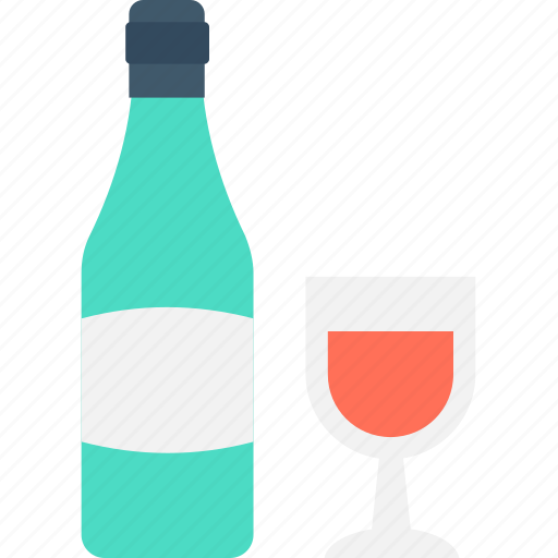 Alcohol, beer bottle, wine, wine bottle, wine glass icon - Download on Iconfinder