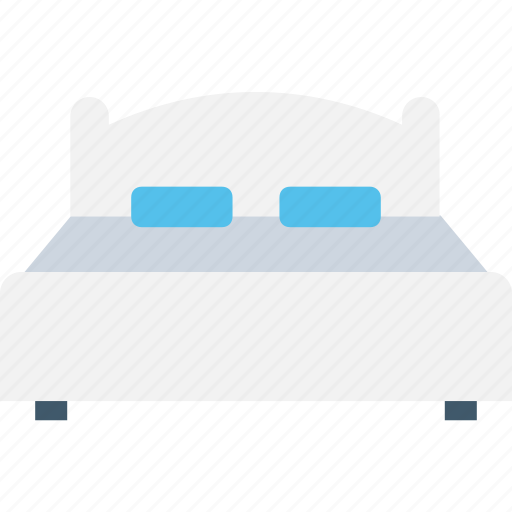 bed, bedroom, hotel room, room, single bed icon