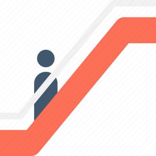 electric stairs, elevator, escalator, moving stairs, staircase icon