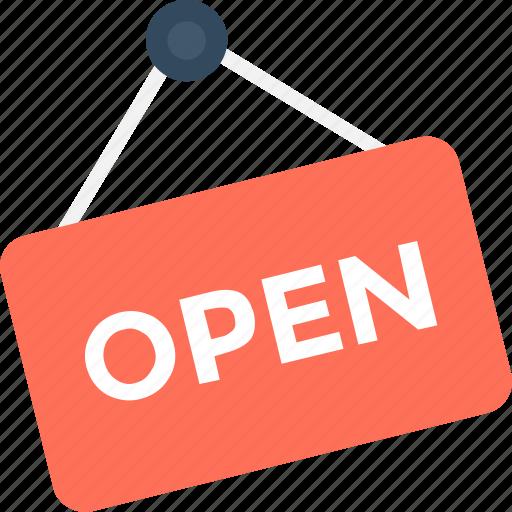 Commercial sign, hanging signboard, open sign, sign bracket, signage icon - Download on Iconfinder