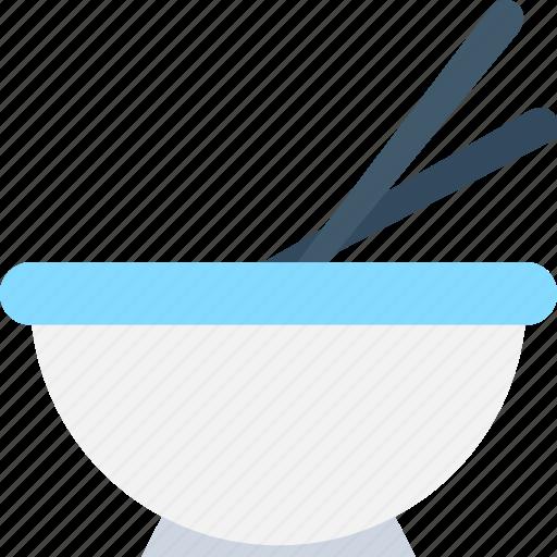bowl, chopsticks, food, food bowl, snacks icon