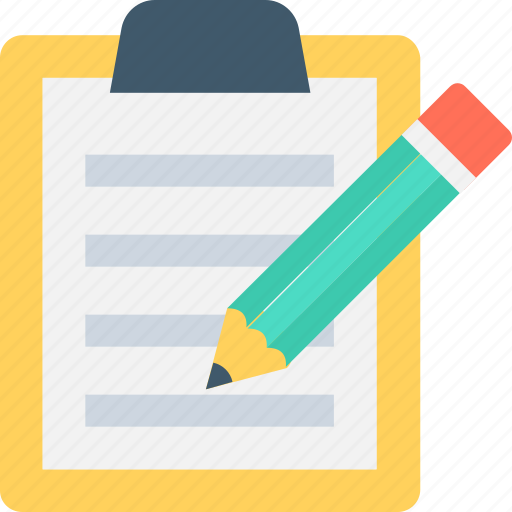 Clipboard, document, notes, pencil, writing icon - Download on Iconfinder