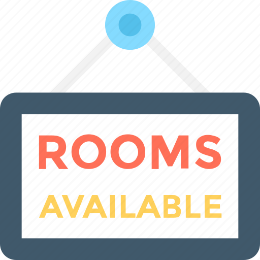 Commercial sign, hanging signboard, rooms available, sign bracket, signage icon - Download on Iconfinder