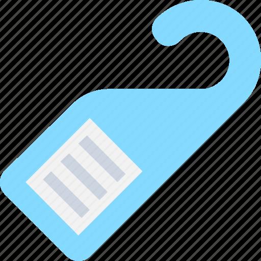 Do not disturb, door hanger, door label, doorknob hanger, hotel room icon - Download on Iconfinder