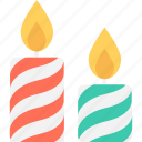 advent candle, burning candle, candle, candle flame, decoration icon