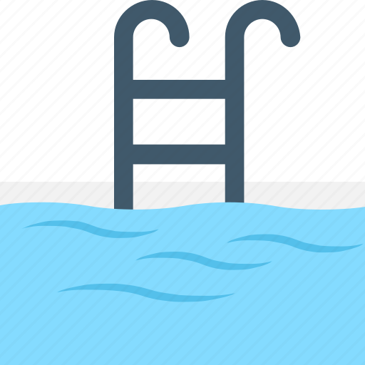 Pool ladders, pool stairs, pool steps, swimming, swimming pool icon - Download on Iconfinder