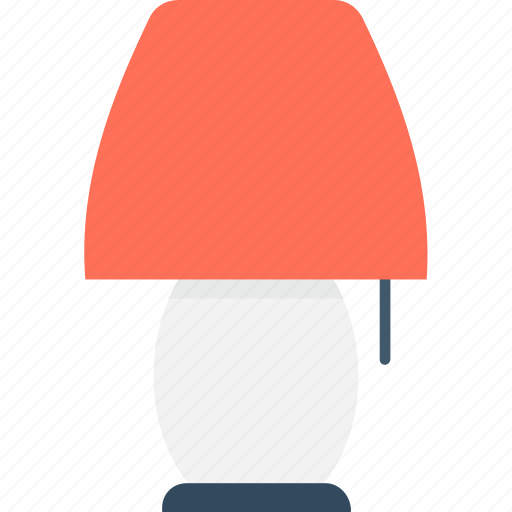 bedroom lamp, bedside lamp, light, room lamp, table lamp icon