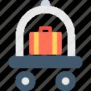 hand trolley, hotel trolley, luggage trolley, platform truck, trolley