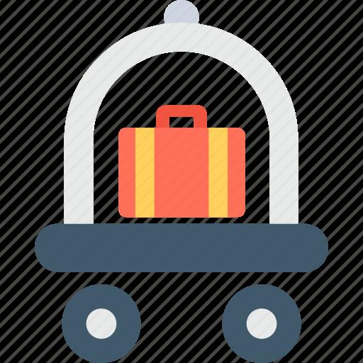 Hand trolley, hotel trolley, luggage trolley, platform truck, trolley icon - Download on Iconfinder