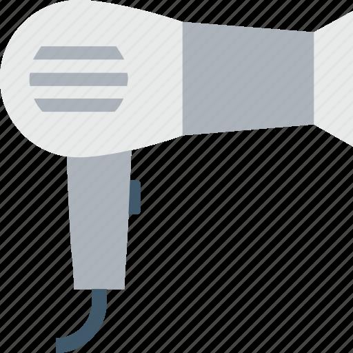 Blow dryer, hair dryer, hair heater, hair styling, salon electricals icon - Download on Iconfinder