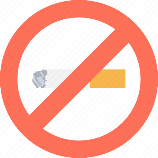Cigarette not allowed, cigarette restriction, no cigarette, no smoking, smoking icon - Download on Iconfinder