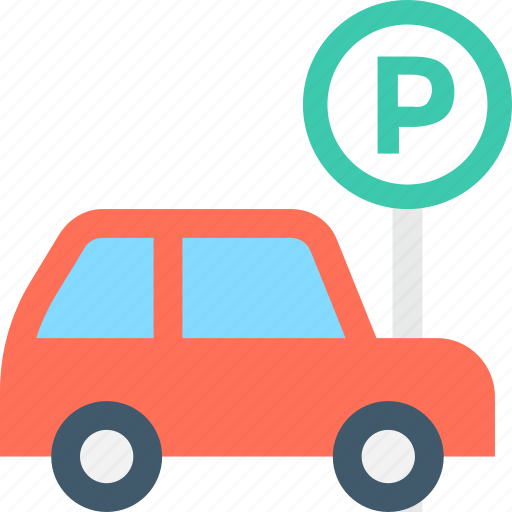 car parking, parking, parking area, road sign, traffic sign icon