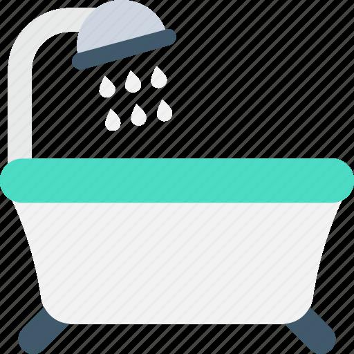Bath, bathtub, jacuzzi tub, shower, shower tub icon - Download on Iconfinder