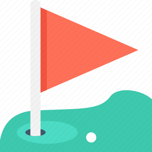 golf, golf ball, golf club, golf course, golf flag icon