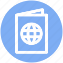 .svg, book, document, globe, identification, passport, visa