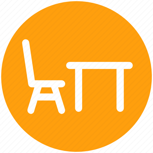 .svg, chair and table, desk and chair, eating chair and table, furniture, table icon