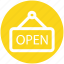 .svg, board, frame, hotel, open, open sign, sign icon