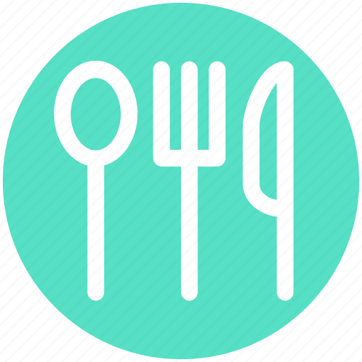.svg, dining, flatware, fork, knife, spoon, tableware icon