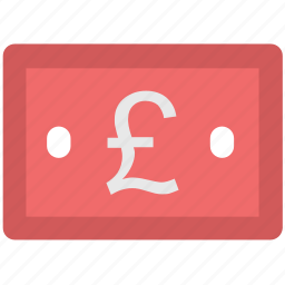 banknote, cash, currency, financial, money, pound note icon