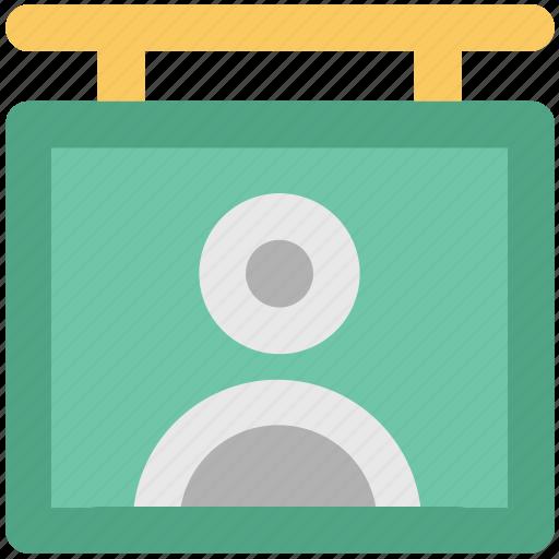 hanging board, id hang, info board, male board, signboard icon