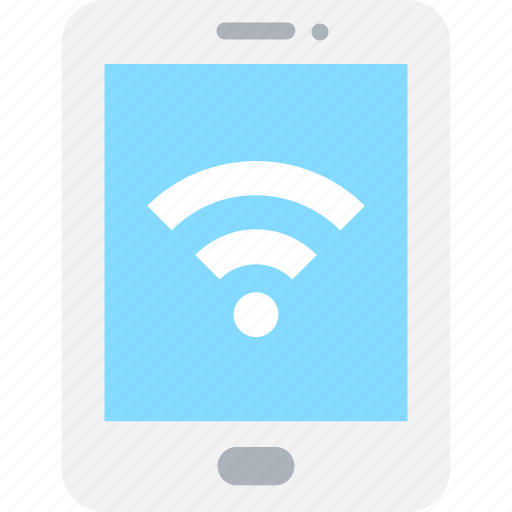 Mobile, mobile wifi, smartphone, wifi signals, wireless internet icon - Download on Iconfinder